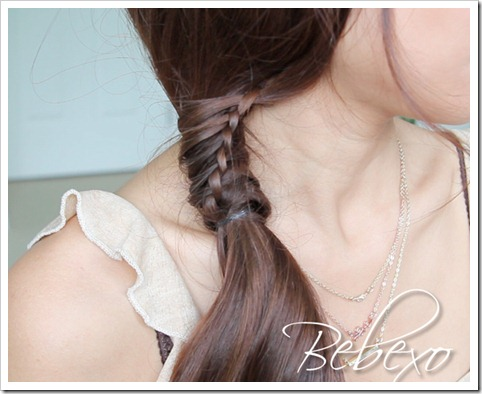 Chinese Staircase Braid Ponytail Hairstyle by Bebexo