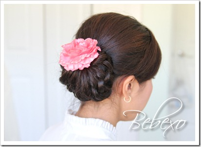 Knotted Hair Bun Updo Hairstyle by Bebexo
