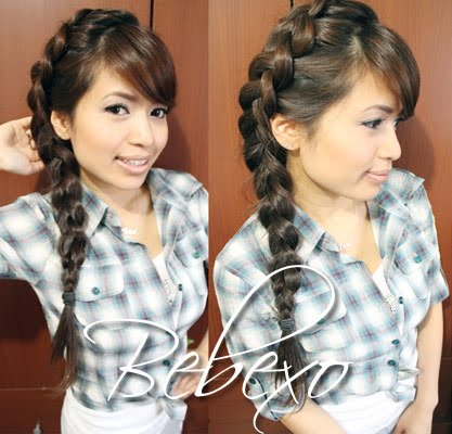 Dutch Braid Hairstyle by Bebexo