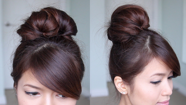 Fan Sock Bun Hairstyle Updo by Bebexo