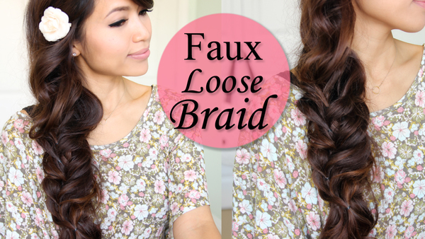 Faux Loose Braid Hairstyle by Bebexo