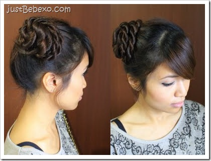 Rope Twist Hair Bun Updo by Bebexo