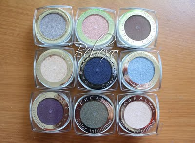 L'Oreal Infallible Eyeshadow Swatches