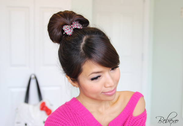 The Perfect Fan Bun Hairstyle Updo by Bebexo