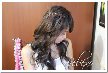 Waterfall braid Hairstyle by Bebexo