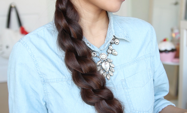 3D Split Twist Braid Hairstyle by Bebexo
