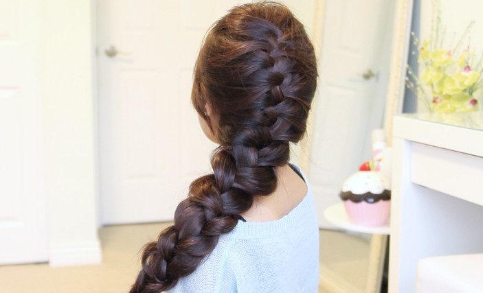 Awe Inspiring Elsa39S French Braid Hairstyle From Disney39S Frozen Bebexo Short Hairstyles For Black Women Fulllsitofus